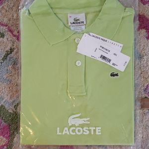 Light green lacoste polo
